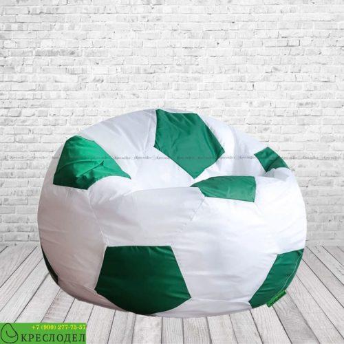 kreslo-meshok-futbeg-oksford-belyj-zelenyj