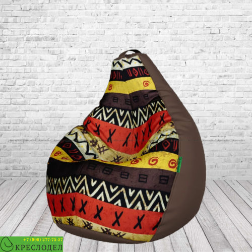kreslo-meshok-grusha-oksford-shokolad-zhakkard-afrika