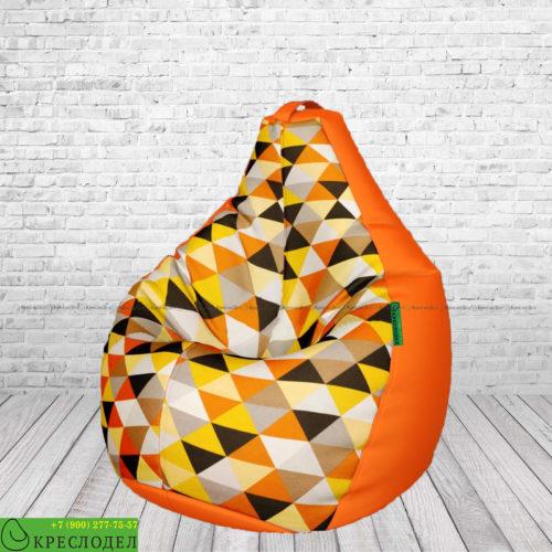 kreslo-meshok-grusha-oksford-zhakkard-mix-romb-oranzhevyj